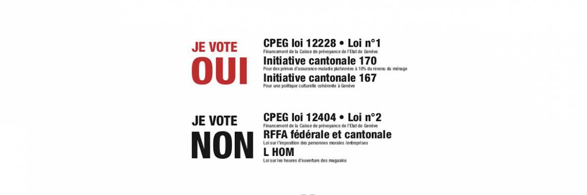 Votations du 19 mai 2019: recommandations du SSP
