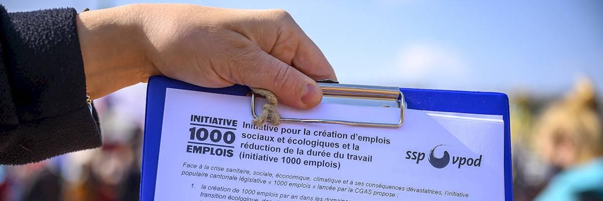 "Signez et faites signer l'initiative syndicale ""1000 emplois"" !"